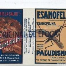 Postales: (PS-66575)POSTAL PUBLICITARIA FERRO-QUINA-BISLERI-EL MEJOR RECONSTITUYENTE. Lote 295707053
