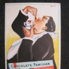 Postales: CHOCOLATE FAMILIAR KOHLER-PUBLICIDAD ANTIGUA-(85.375). Lote 296894983