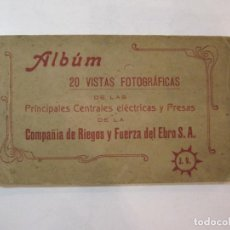 Postales: PRINCIPALES CENTRALES ELECTRICAS-COMPAÑIA RIEGOS Y FUERZAS EBRO-BLOC 20 POSTALES-VER FOTOS-(85.378). Lote 296895623