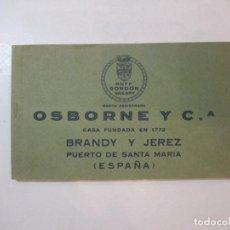 Postales: OSBORNE Y CIA-PUERTO DE SANTA MARIA-BLOC DE POSTALES ANTIGUAS-PUBLICIDAD-POSTAL ANTIGUA-(85.383). Lote 296897153