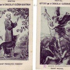 Postales: LOTE DE 7 RECORDATORIOS SERIE CHOCOLAT GUERIN-BOUTRON. Lote 27575200