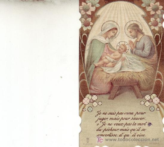 POSTAL RELIGIOSA -RECORDATORIO FRANCÉS (Postales - Postales Temáticas - Religiosas y Recordatorios)