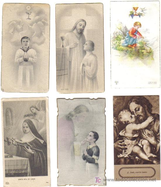 6 ESTAMPAS RELIGIOSAS AÑOS 1940-50 (Postales - Postales Temáticas - Religiosas y Recordatorios)