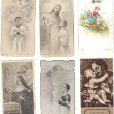 Postales: 6 ESTAMPAS RELIGIOSAS AÑOS 1940-50. Lote 27067051