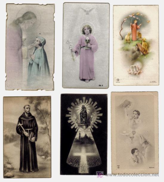 LOTE 6 ESTAMPAS RELIGIOSAS AÑOS 1940-50 (Postales - Postales Temáticas - Religiosas y Recordatorios)