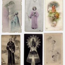 Postales: LOTE 6 ESTAMPAS RELIGIOSAS AÑOS 1940-50. Lote 27067055