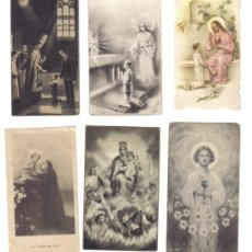 Postales: LOTE 6 ESTAMPAS RELIGOSAS AÑOS 1940-50. Lote 27067054