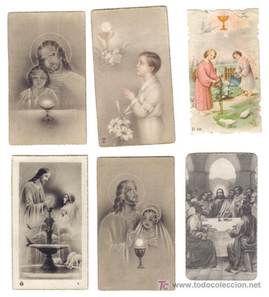 LOTE 6 ESTAMPAS RELIGOSAS AÑOS 1940-50 (Postales - Postales Temáticas - Religiosas y Recordatorios)