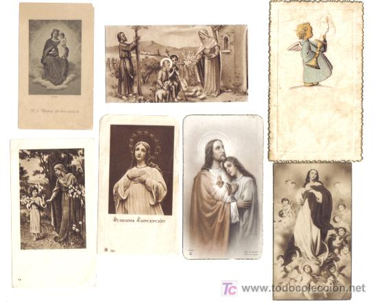 7 ESTAMPAS RELIGOSAS AÑOS 1940-50 (Postales - Postales Temáticas - Religiosas y Recordatorios)