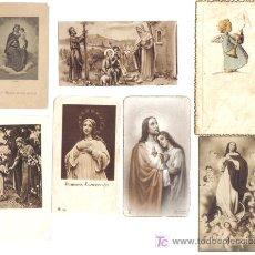 Postales: 7 ESTAMPAS RELIGOSAS AÑOS 1940-50. Lote 27067052