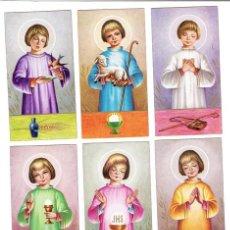 Postales: SERIE COMPLETA DE RECORDATORIOS RELIGIOSOS, COMUNIÓN. S - 7052. Lote 4300154