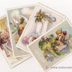 Postales: 4 MAGNÍFICAS TARJETAS DE FELICITACIÓN DE LOS AÑOS 60 . Lote 4356893