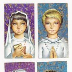 Postales: LOTE DE 4 RECORDATORIOS. COMUNIÓN. SERIE 7058. Lote 4358790