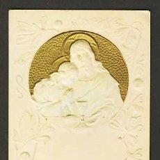 Postales: ESTAMPA RELIGIOSA: JESUS. EN RELIVE, MODERNISTA, ART NOUVEAU. DOBLE HOJA. Lote 4366477