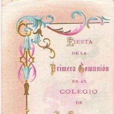 Postales: RECORDATORIO COMUNIÓN: COLEGIO DE SAN ESTANISLAO DE MÁLAGA.. Lote 27525629