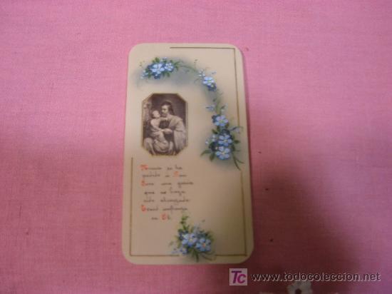 ESTAMPA SOBRE CELULOIDE PINTADA A MANO (Postales - Postales Temáticas - Religiosas y Recordatorios)