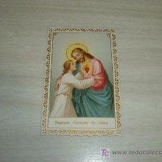 Postales: ESTAMPA TROQUELADA SAGRADO CORAZON DE JESUS. Lote 12477695