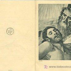 Postales: ESQUELA DIRECTOR GERENTE DE PIZZALA Y CRORY SA BARCELONA 1955 PORTADA FRAGMENTO DEL GRECO . Lote 6686552