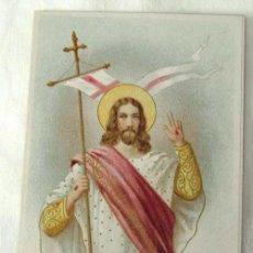 Postales: ESTAMPA RELIGIOSA CRISTO PUBLICIDAD CHOCOLATES MANTECADAS GRANELL Y MARTÍNEZ ASTORGA PP XX LIT DURÁ. Lote 7022374