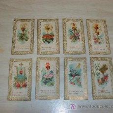 Postales: COLECCION DE 8 ESTAMPAS FINALES S XIX . Lote 26342331