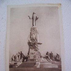 Postales: POSTAL DEL MONUMENTO AL SAGRADO CORAZON DE JESUS EN GETAFE (MADRID), SIN CIRCULAR. Lote 19754377