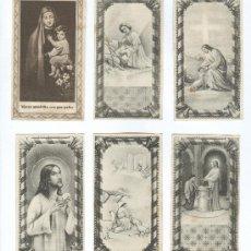 Postales: 6 ESTAMPAS RELIGIOSAS ANTIGUAS. Lote 8838544