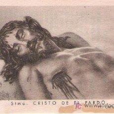 Postales: ESTAMPA STMO. CRISTO DE EL PARDO- P. CAPUCHINOS. Lote 23498069