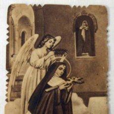 Cartoline: ESTAMPA TROQUELADA EN SEPIA DE SANTA RITA DE CASIA AÑOS 30. Lote 8032436