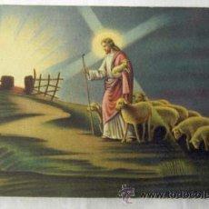 Postales: POSTAL RELIGIOSA COLOREADA BUEN PASTOR AÑOS 40. Lote 8731589
