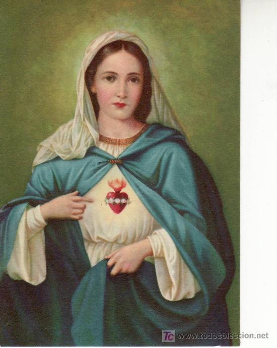 CORAZON IMACULADO DE MARIA-RECORDATORIO ITALIANO (Postales - Postales Temáticas - Religiosas y Recordatorios)