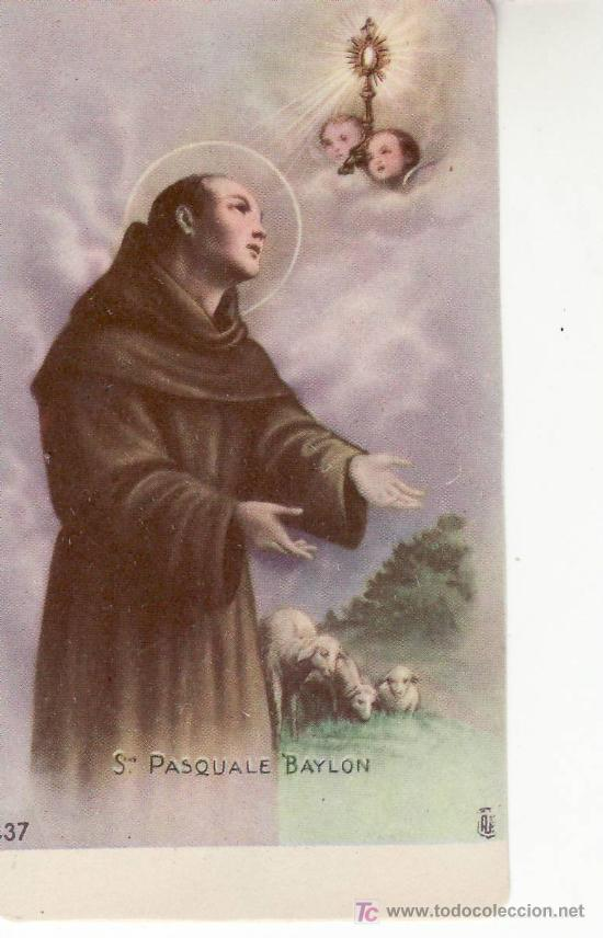 SAN PASQUALE BAYLON-RECORDATORIO (Postales - Postales Temáticas - Religiosas y Recordatorios)