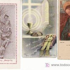 Postales: LOTE DE 3 RECORDATORIOS.NTRA SRA.DE LAS TRES AVEMARIAS,AD MULTOS ANNOS,LA VIRGEN EN ADORACION.. Lote 8960063