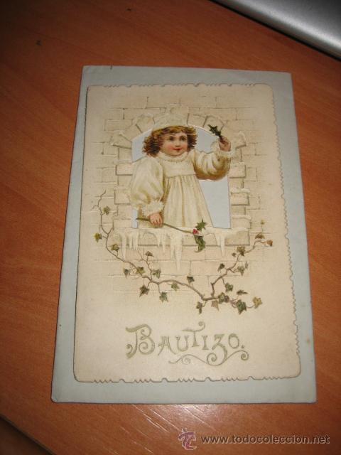 ANTIGUO RECORDATORIO DE BAUTIZO (Postales - Postales Temáticas - Religiosas y Recordatorios)