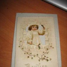 Postales: ANTIGUO RECORDATORIO DE BAUTIZO . Lote 11954205