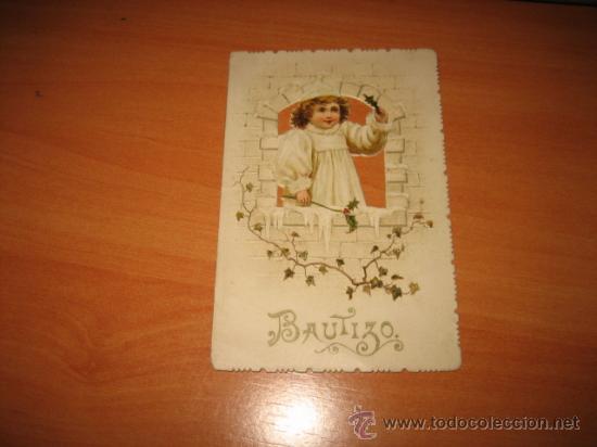 Postales: ANTIGUO RECORDATORIO DE BAUTIZO - Foto 3 - 11954205