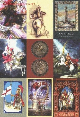 9 POSTALES COLECCIÓN SAN JORGE UNIVERSAL SERIE 2 (Postales - Postales Temáticas - Religiosas y Recordatorios)
