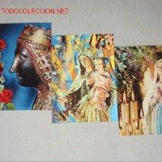 Postales: TRES POSTALES TRIDIMENSIONALES DE VÍRGENES, Nª. Sª DE MONTSERRAT, Nª Sª DEL CARMEN Y NªSª DE LOURDES. Lote 26558000