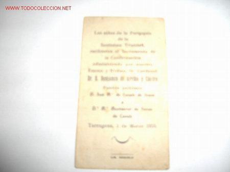 Postales: RECORDATORIO DE CONFIRMACION - Foto 2 - 2325004