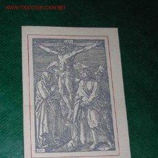 Postales: RECORDATORIO 1967, CON GRABADO DE A.DURERO, INCLUYENDO MISA DE DIFUNTOS. Lote 22448262