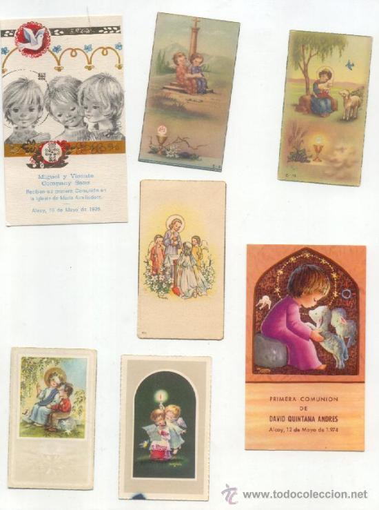 RECORDATORIOS -AÑOS 50-60 70- (Postales - Postales Temáticas - Religiosas y Recordatorios)