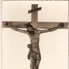 Postales: ANTIGUA POSTAL AX-LES-THERMES CHAPELLE ST-JÉRÔME CHRIST EN BOIS DES PÉNITENTS BLEUS ED.RENE ESTIVAL. Lote 10077045
