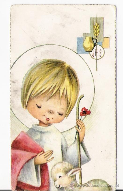 Recordatorio comunion comprar postales religiosas y recordatorios en todocoleccion 10333319 - Recordatorios de comunion para imprimir ...