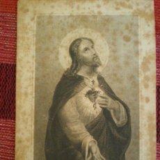 Postales: RECORDATORIO RELIGIOSO: SACRE COEUR DE JESUS (SAGRADO CORAZON DE JESUS). Lote 17622920