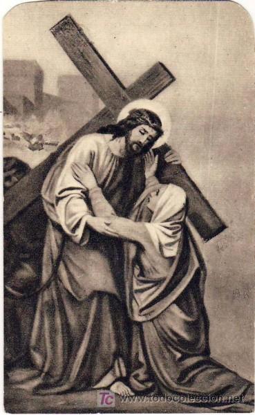 estampa religiosa, via crucis (cuarta estación) - Buy Religious ...