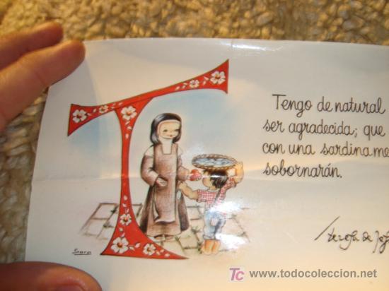 1985 ESCRITA (Postales - Postales Temáticas - Religiosas y Recordatorios)