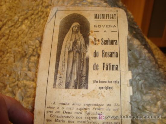 1950 NUESTRA SEÑORA DEL ROSARIO DE FATIMA, .NOVENA (Postales - Postales Temáticas - Religiosas y Recordatorios)
