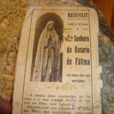 Postales: 1950 NUESTRA SEÑORA DEL ROSARIO DE FATIMA, .NOVENA. Lote 11775876