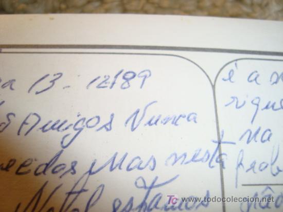 Postales: LISBOA 13 DICIEMBRE 89 FELICITACION NAVIDEÑA - Foto 2 - 11779171