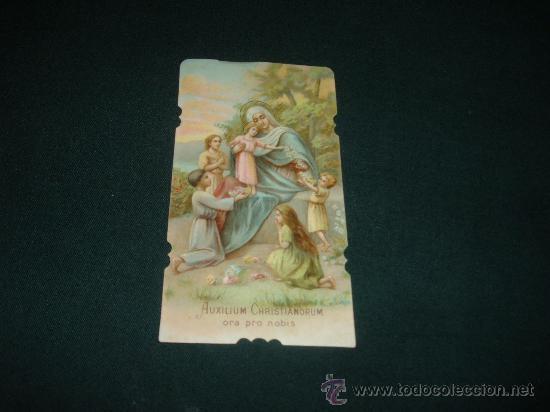 ESTAMPA AUXILIUM CHRISTIANORUM ORA PRO NOBIS (Postales - Religiosas y Recordatorios)