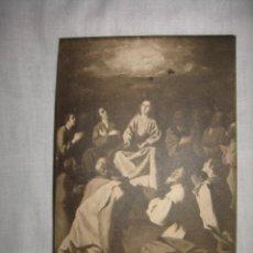 Postales: PENTECOSTES CUADRO DE ZURBARAN MUSEO DE CADIZ CIRCULADA GIJON-OVIEDO 1910. Lote 11960430